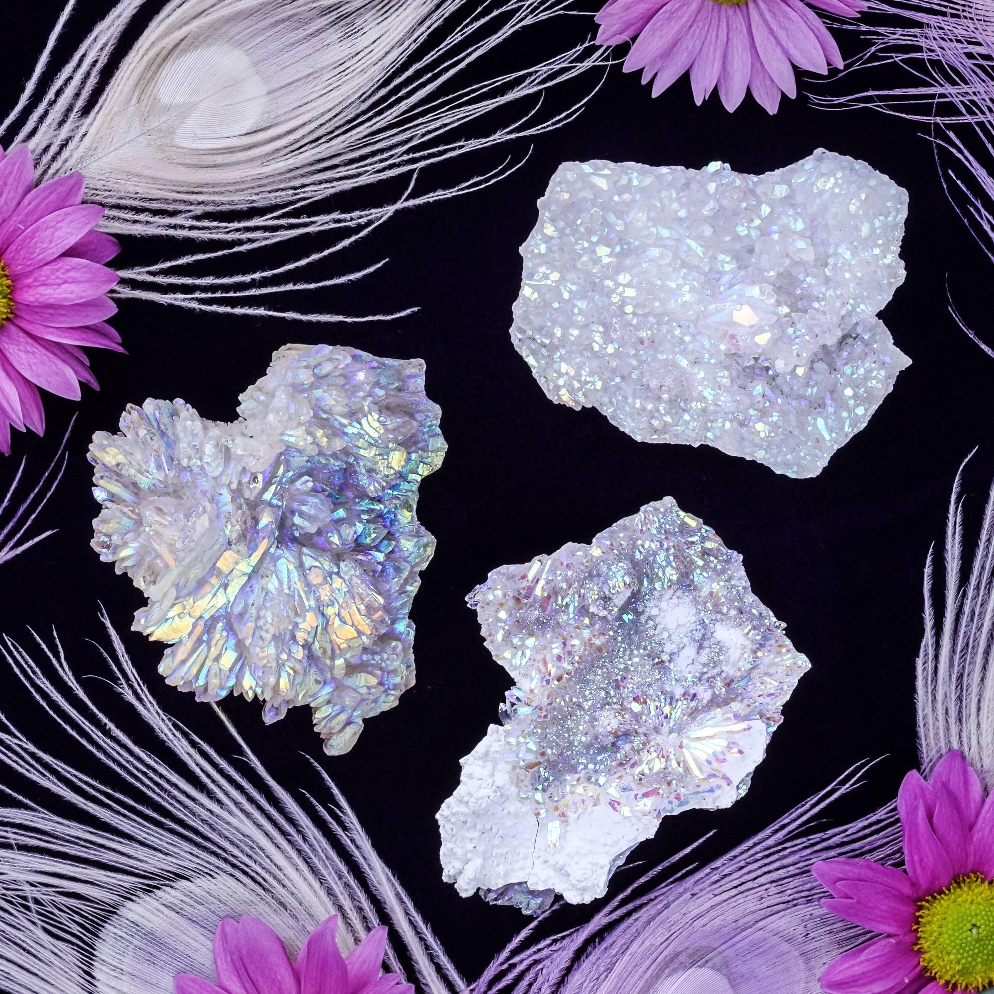 opal aura rose amethyst
