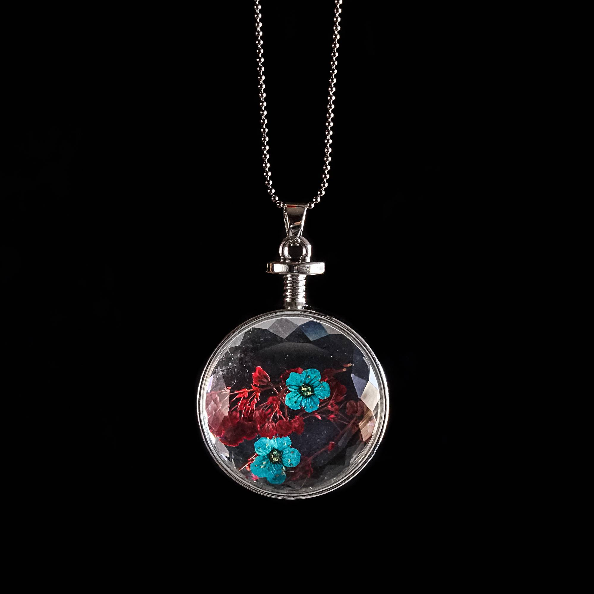 Pressed flower pendant for mother earths spring renewal pressed flower pendant mozeypictures Image collections