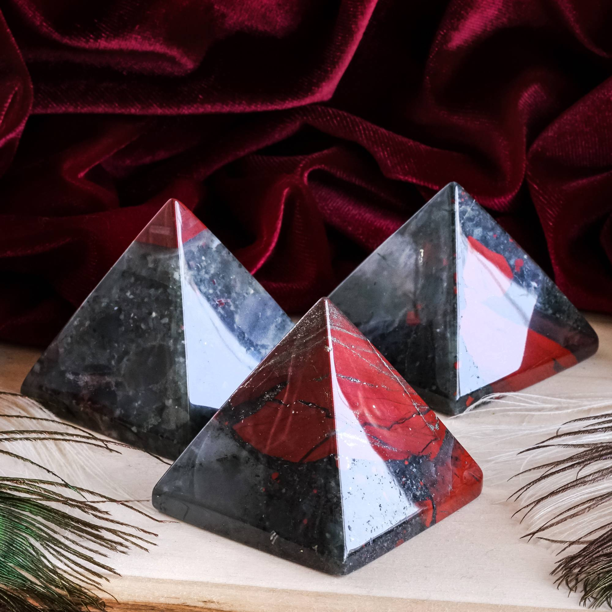 south african bloodstone pyramids