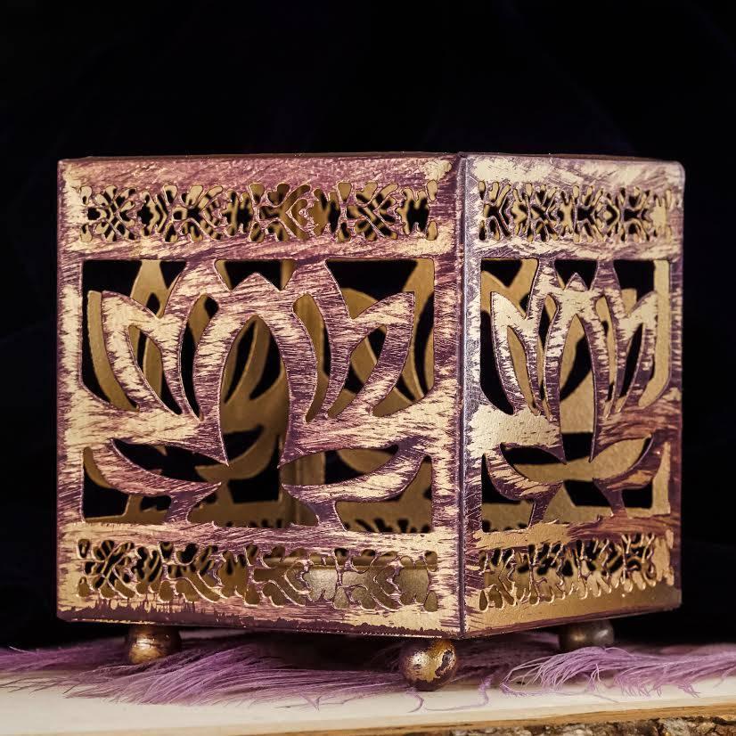 buddhist decor lotus tea light holder