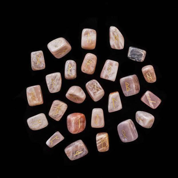 crystal rune carvings