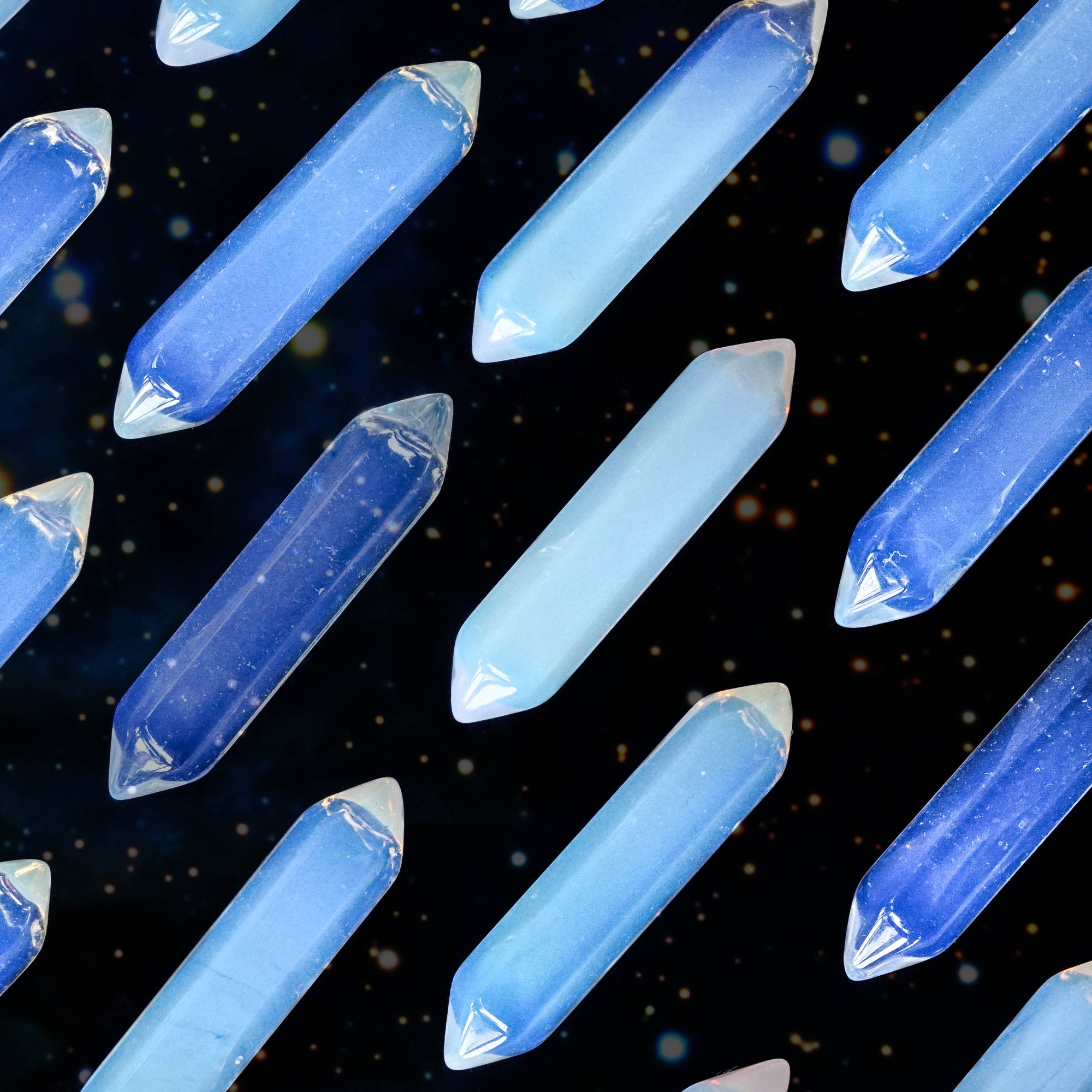 double terminated opalite wands
