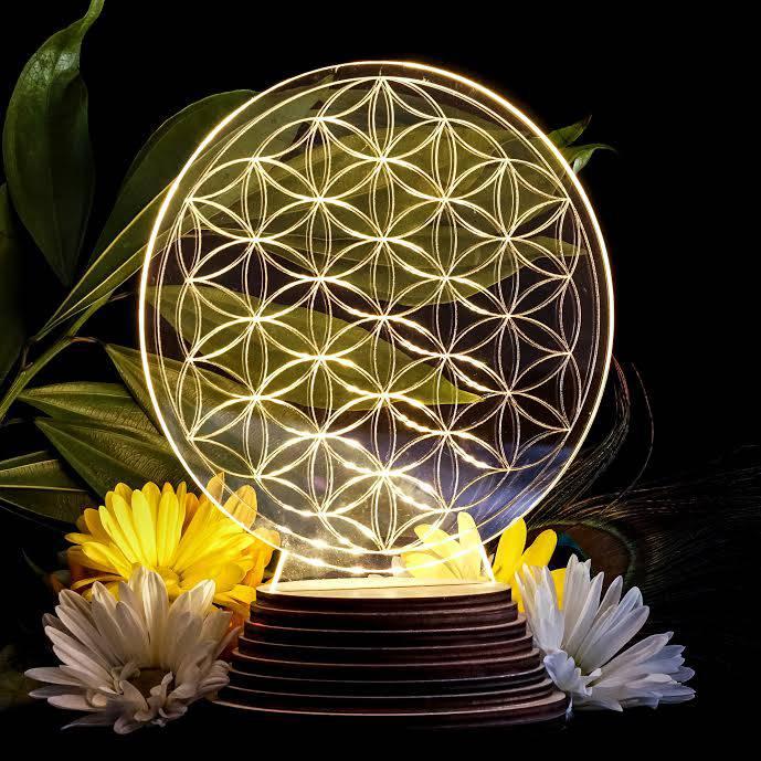 flower of life light up display