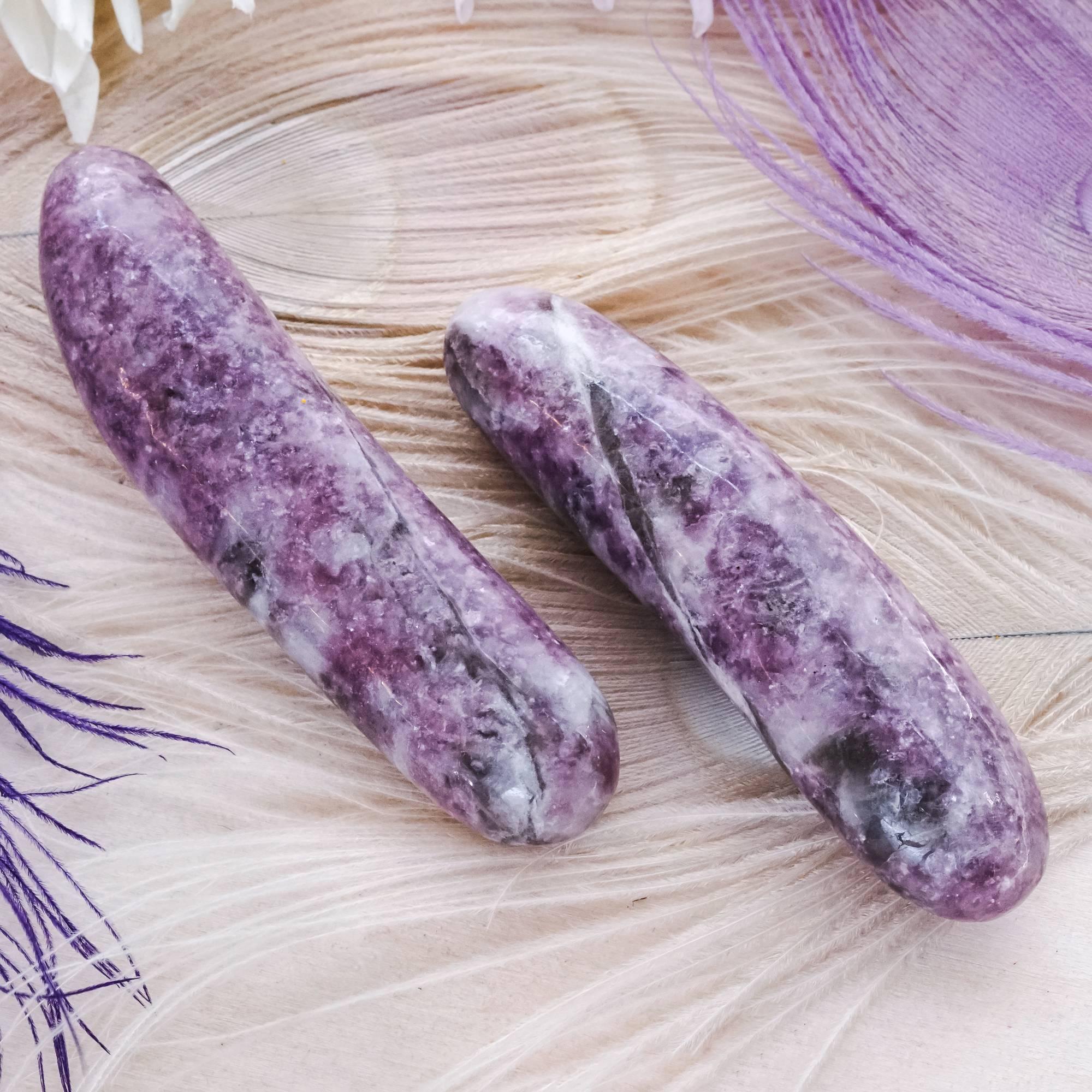 lepidolite massage wands