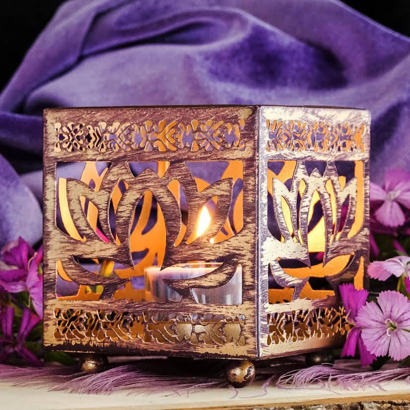 metal lotus tea light holders