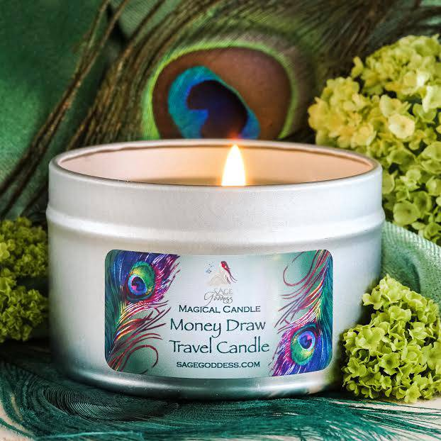money draw travel candle