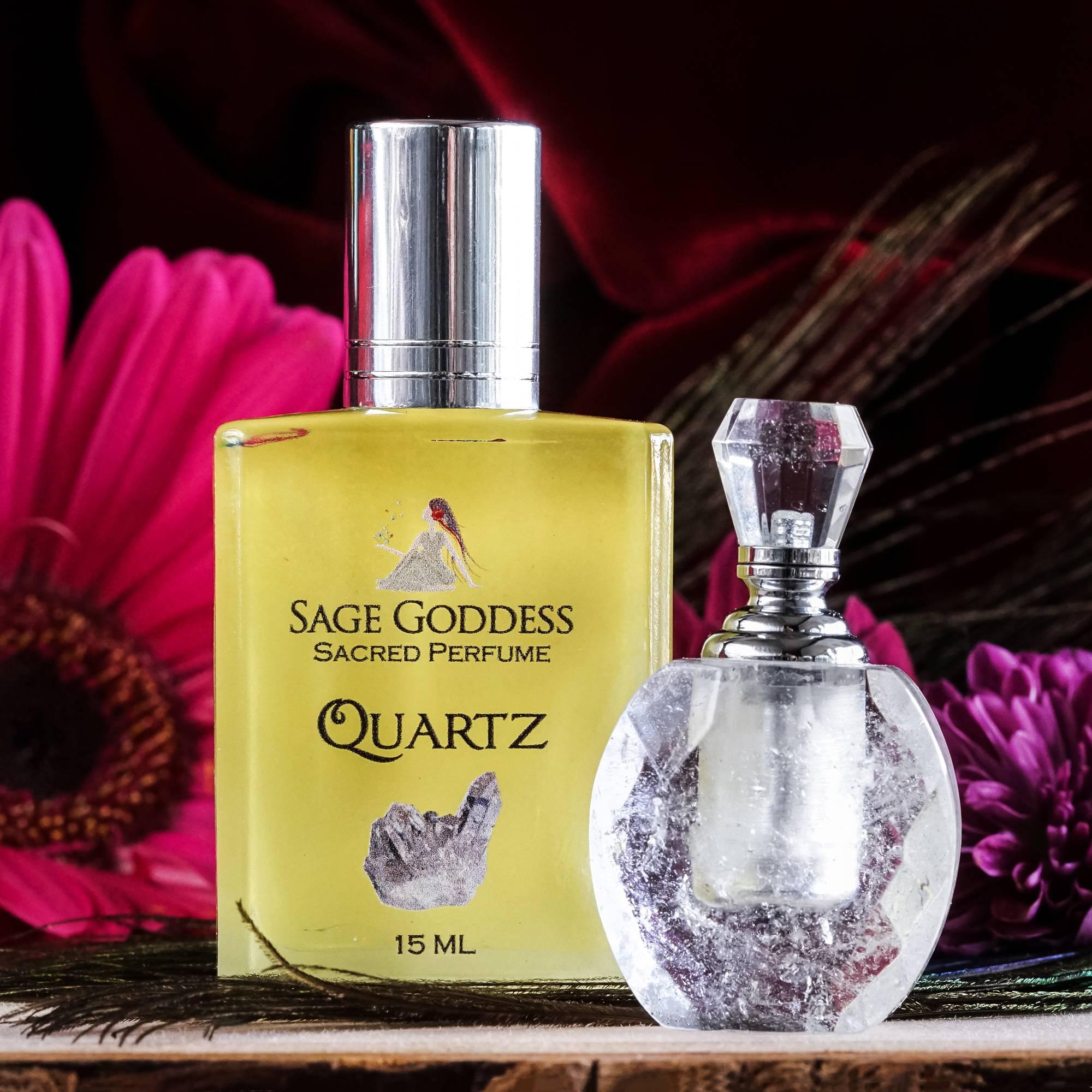 quartz perfume bottle with quartz perfume