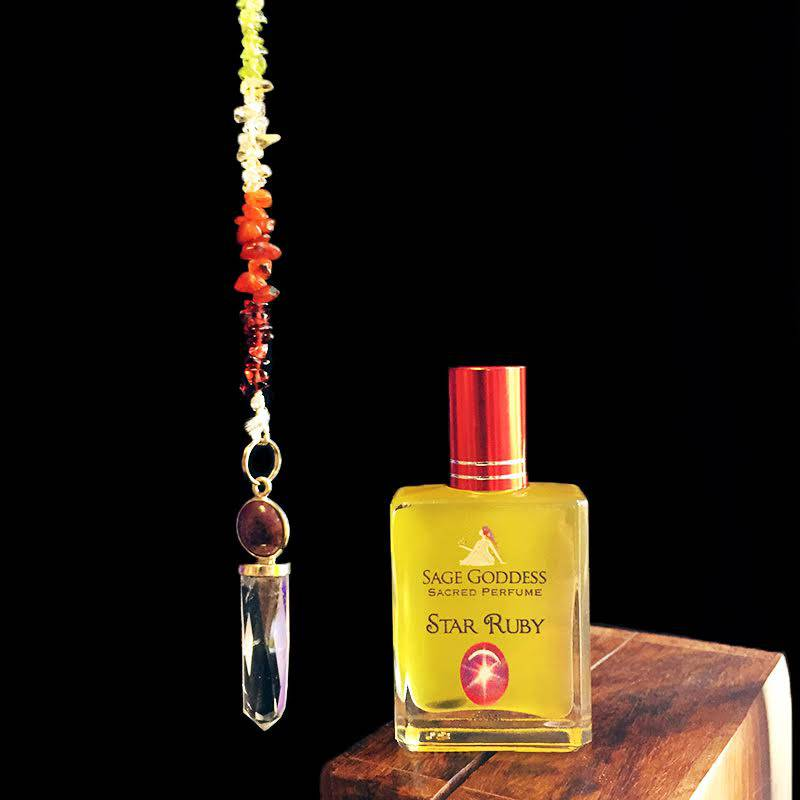 star ruby pendulum perfume set