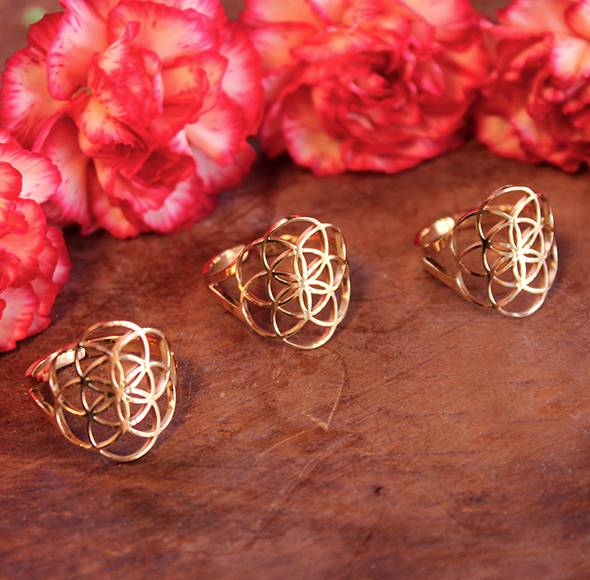 golden seed of life rings