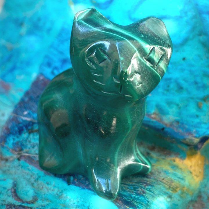 Magical Healing Malachite Cats
