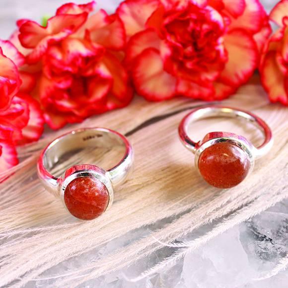 sunstone rings