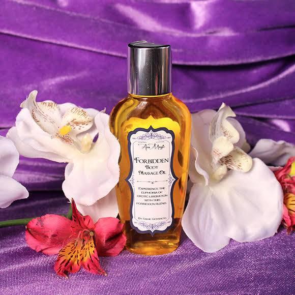 forbidden body massage oil
