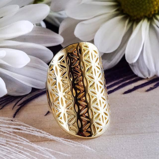 golden flower of life rings
