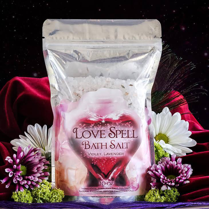 Love Spell Bath Salts for invoking passion and enhancing attraction