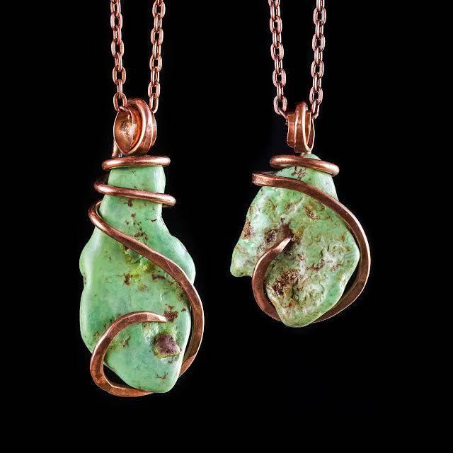mojave turquoise pendants