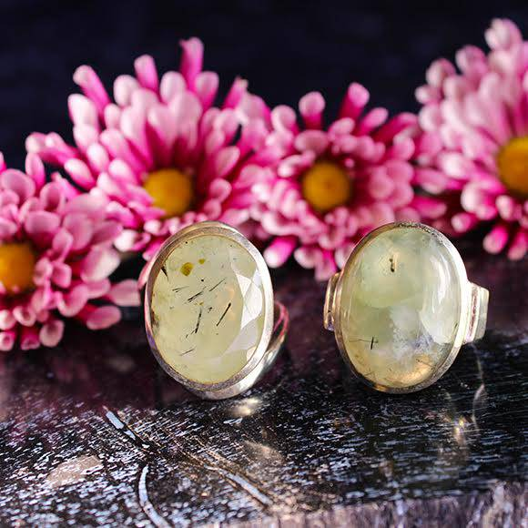 prehnite with epidote rings