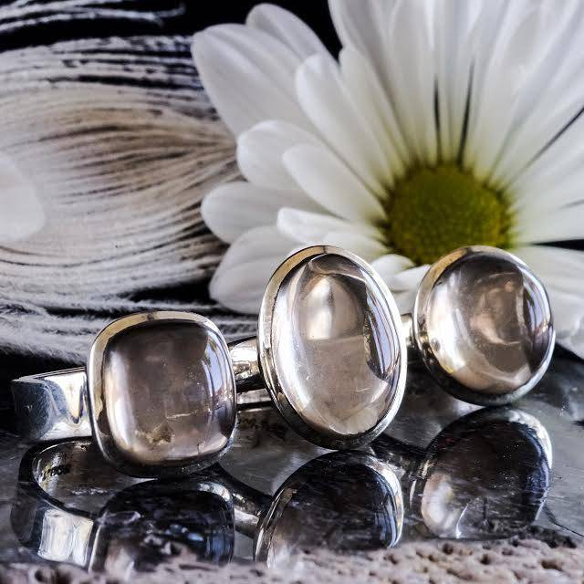 smoky quartz rings