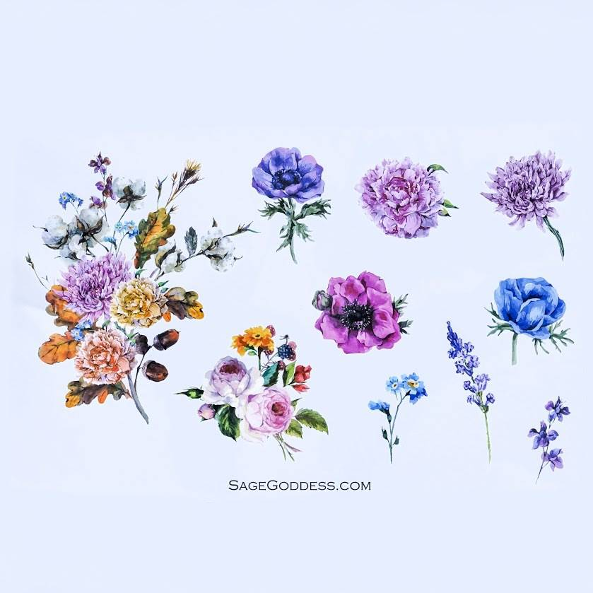 wildflower flash tattoos
