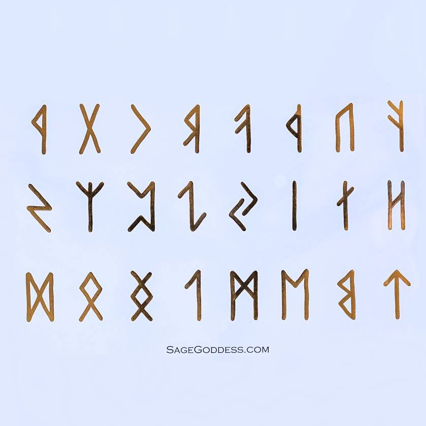 gold runes tattoos