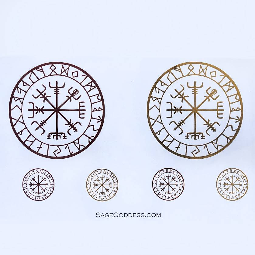 dd03fc64a Custom SG Vegvisir Flash Tattoos for invoking the dance of the Vikings. helm  of awe tattoos