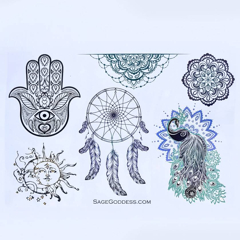 sacred symbols tattoos
