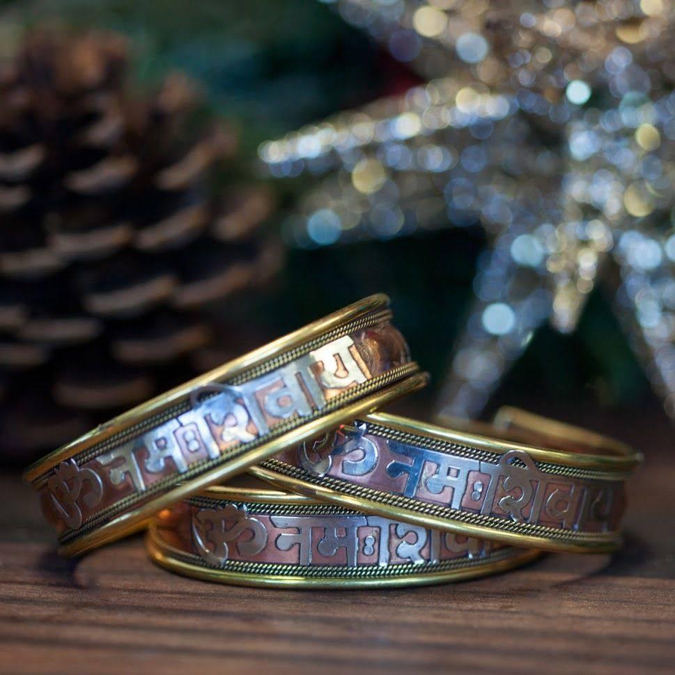 Om Namah Shivaya Copper Bracelet