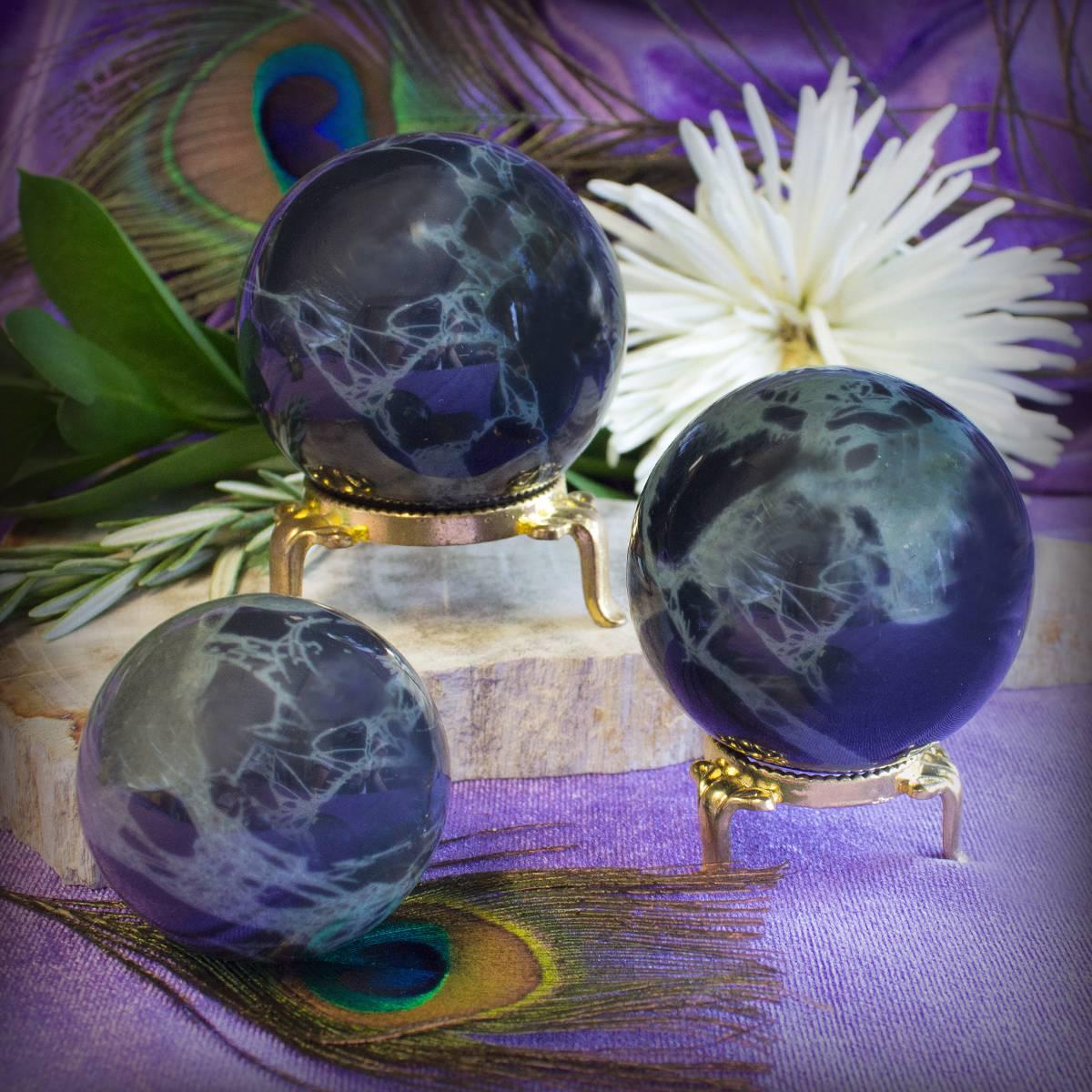 spiderweb obsidian spherese