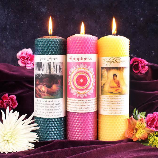 bodhisattva candle trio