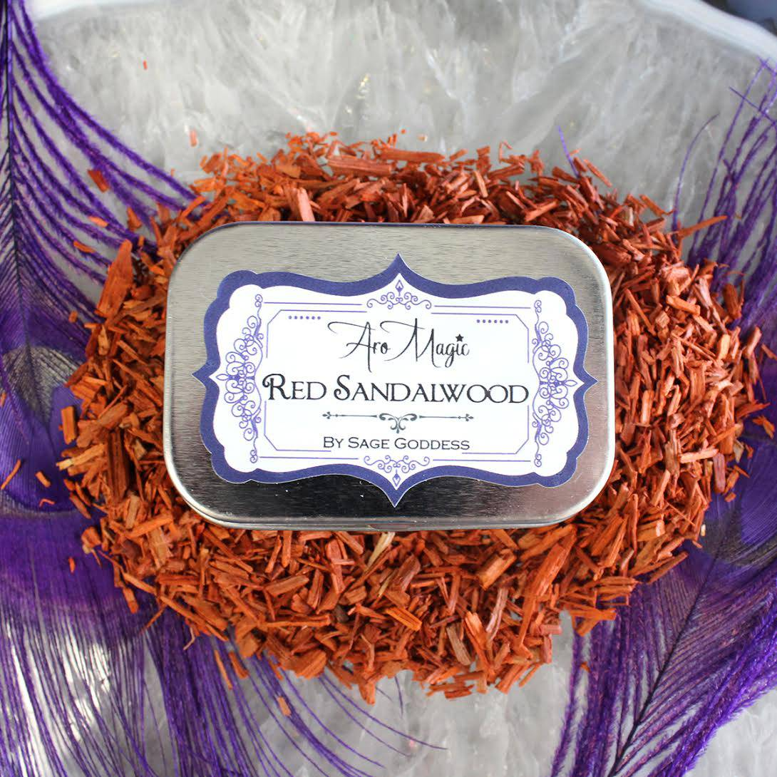 red sandalwood tin