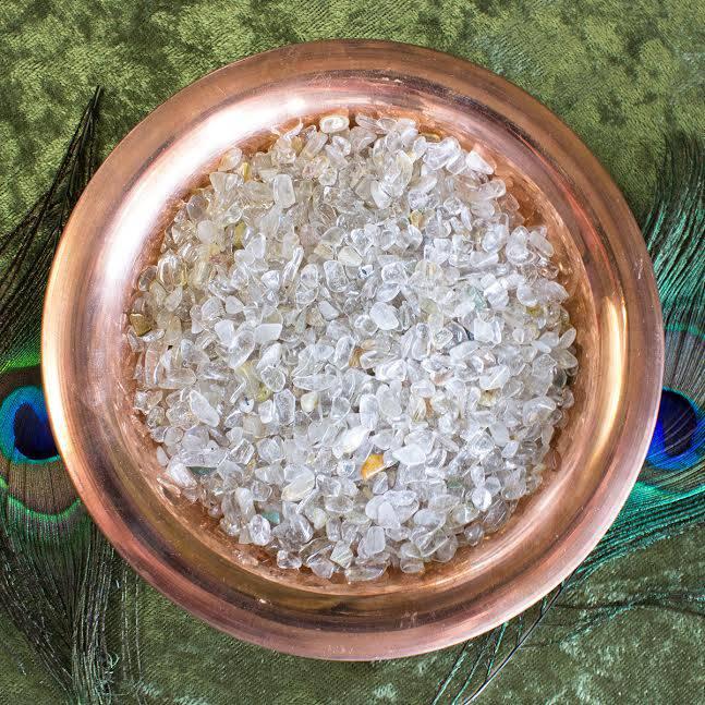 rutilated quartz chip stones