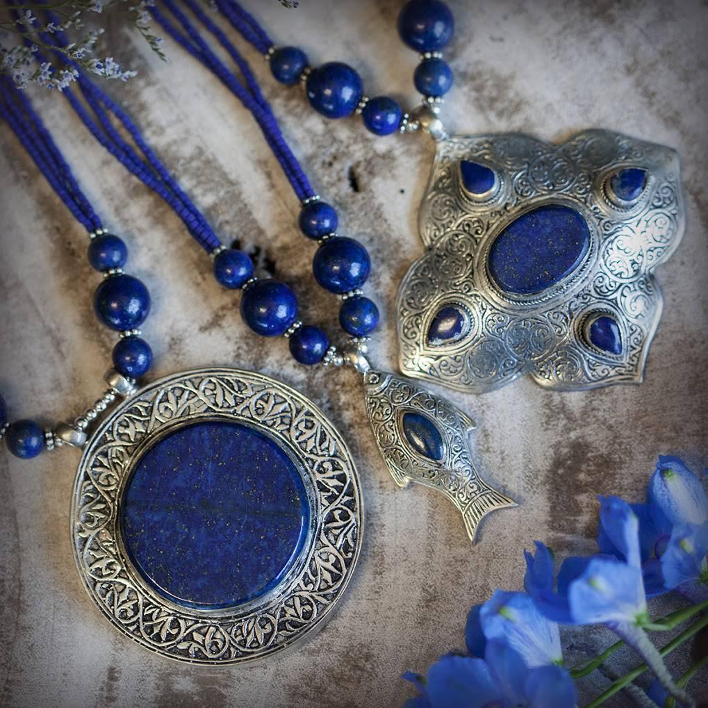 Lapis kuchi pendants for queenly poise and regal strength lapis kuchi pendants mozeypictures Images