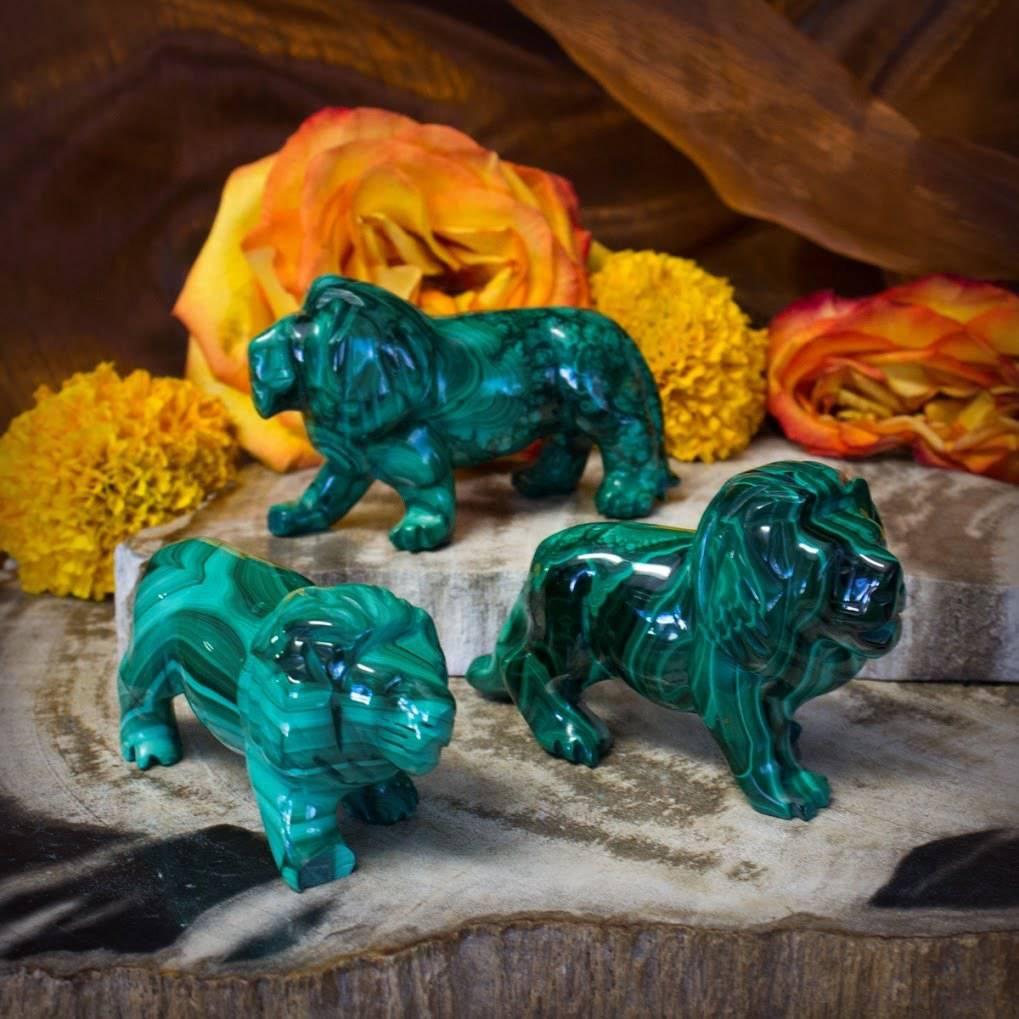 malachite lion