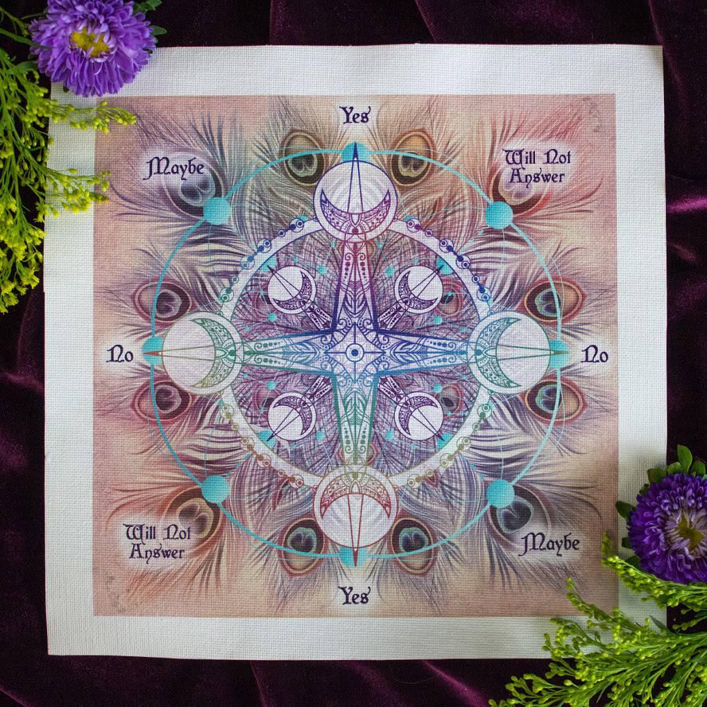 SG Signature Pendulum Mats and Intuitively Chosen Pendulum for divinatory  magic