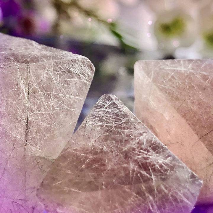 Pink Fluorite Octahedrons
