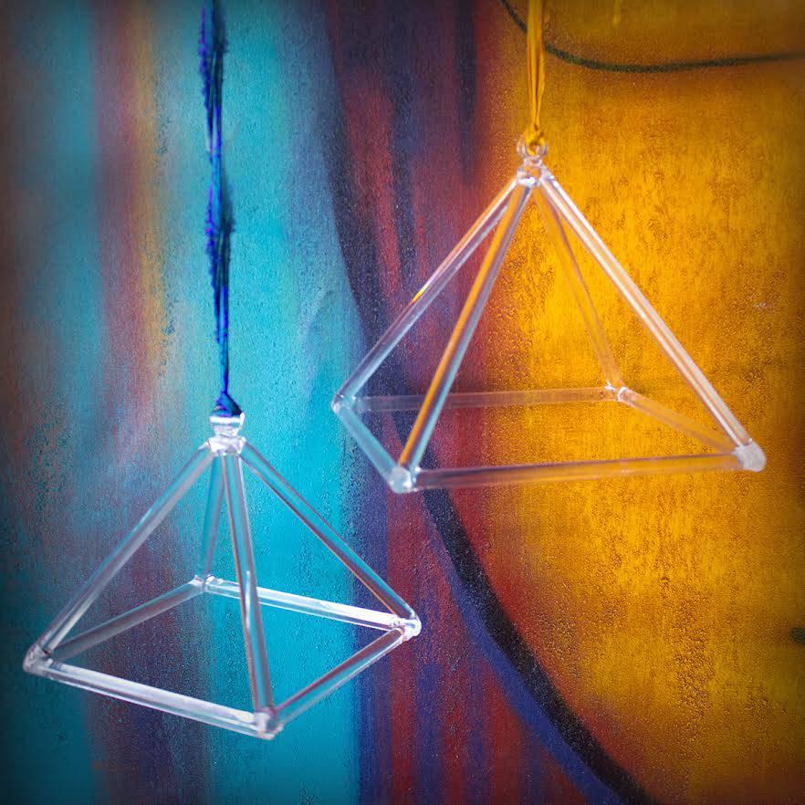 clear quartz sound pyramids