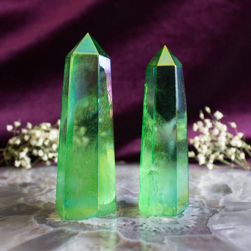 green aura quartz generators