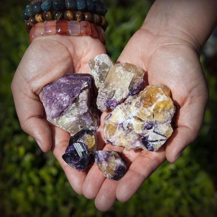 purple yellow fluorite