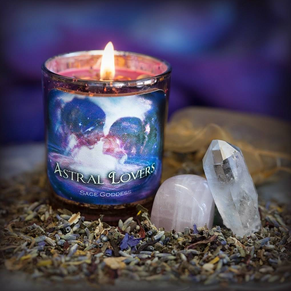 Astral Lovers Votive and Herb Satchel