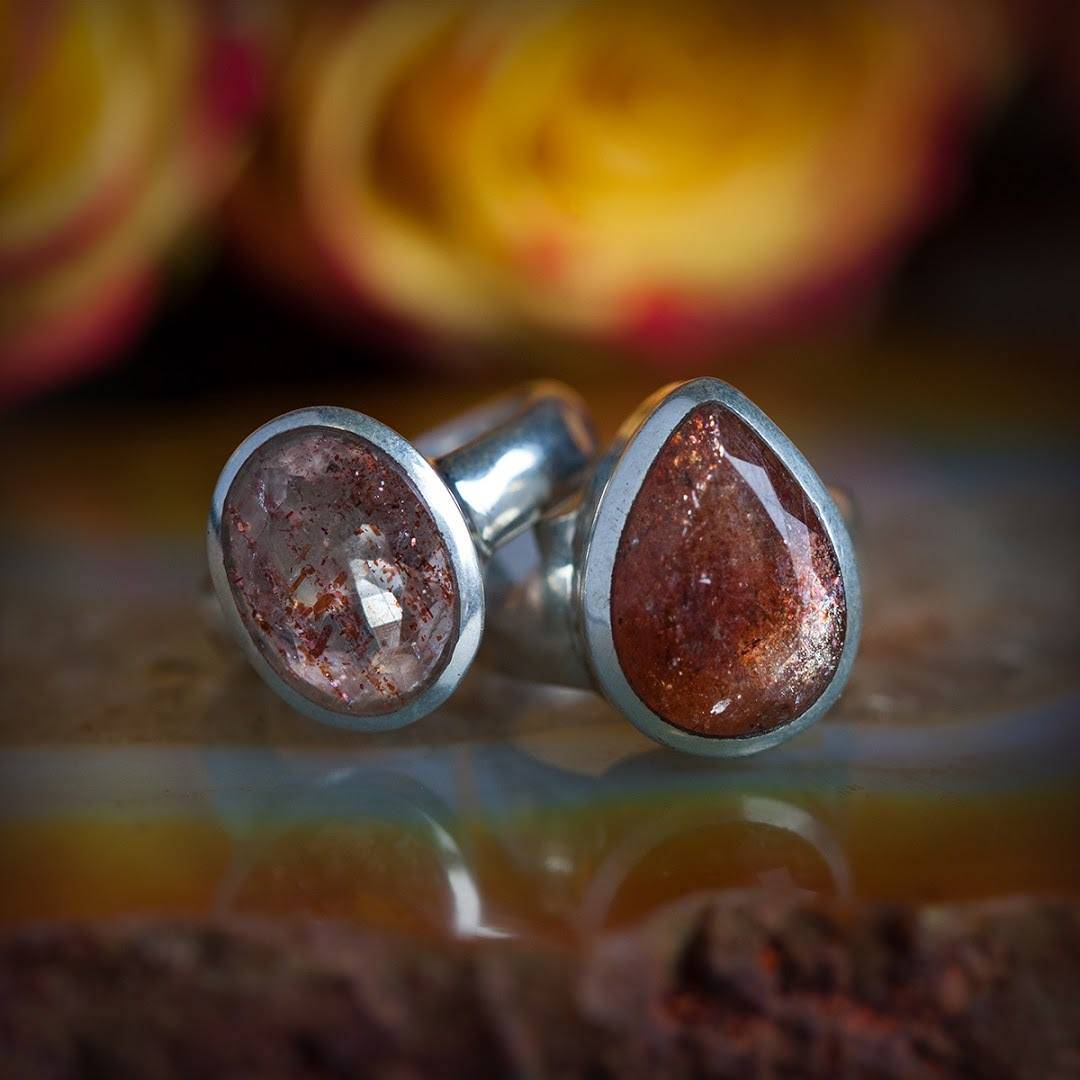 Faceted Sunstone ring