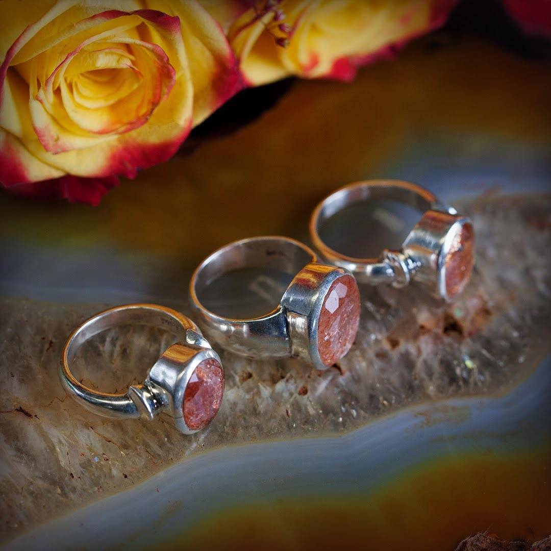 Faceted Sunstone ring secondary