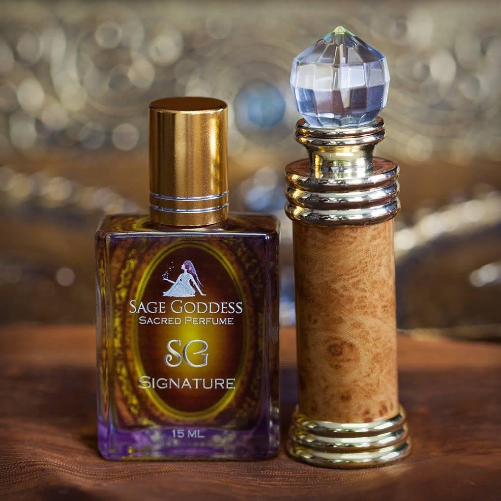 SG Signature & Rainbow Faceted Gem Perfume Bottle