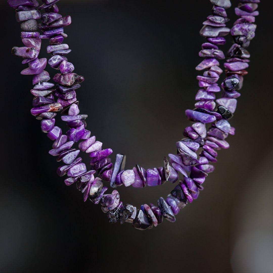 Sugilite Chipstone Necklaces