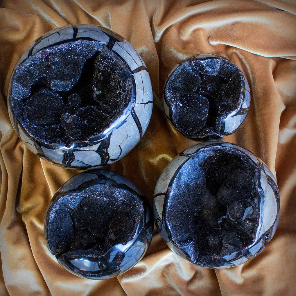Wild Septarian Spheres
