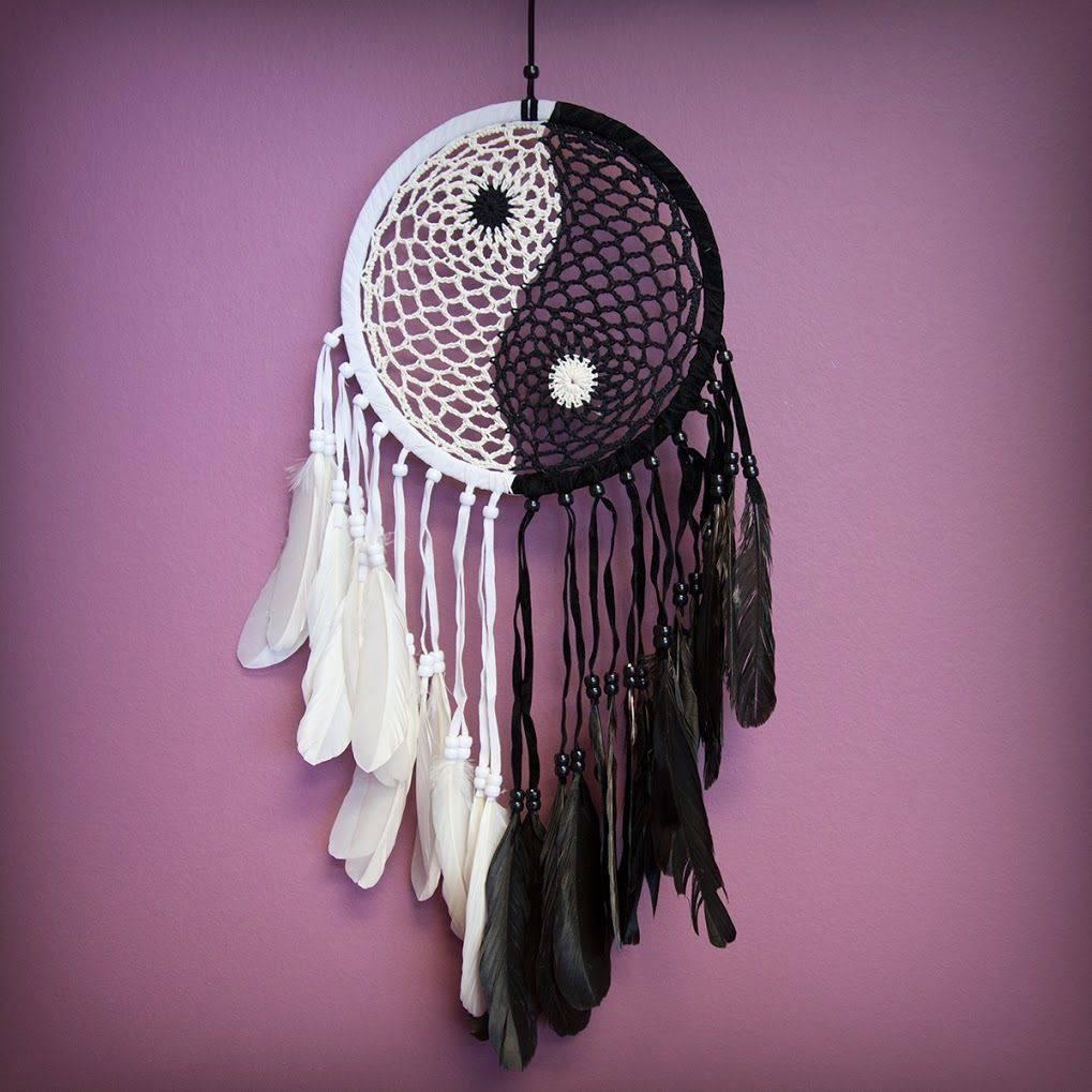 Yin Yang Woven Dreamcatchers