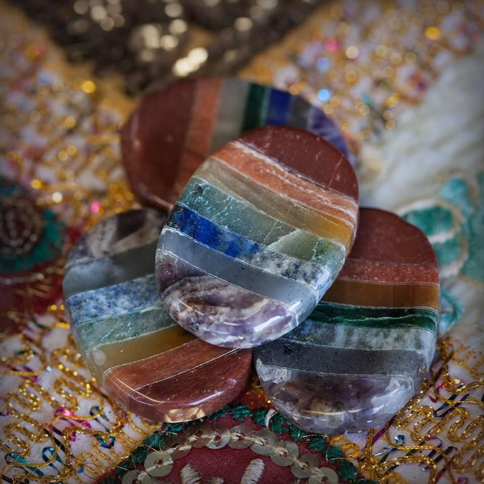 Chakra Bonded Worry Stones