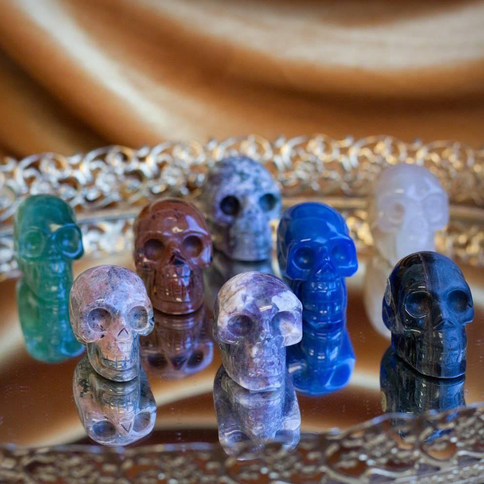Intuitive Gemstone Skulls