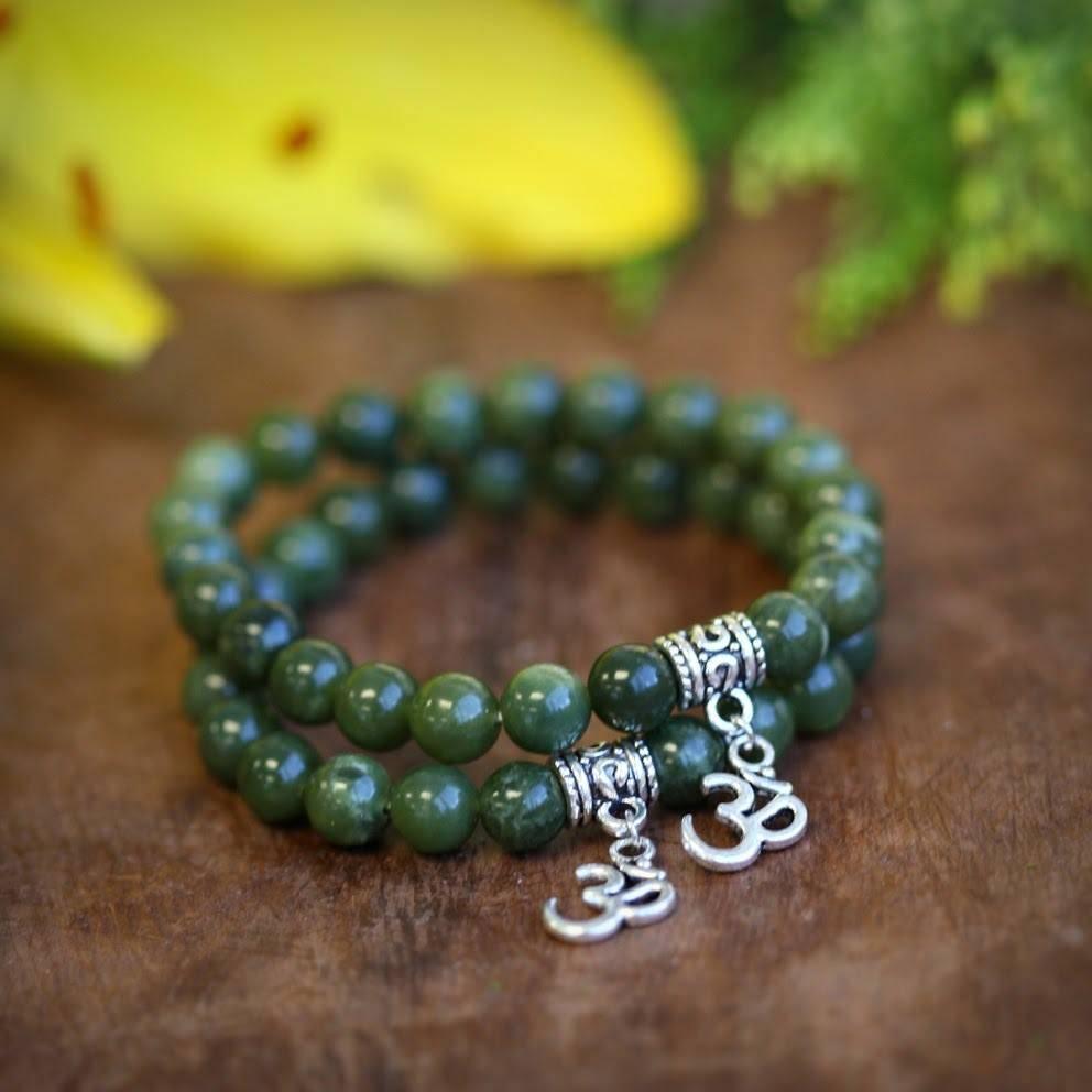 Jade Om Bracelet