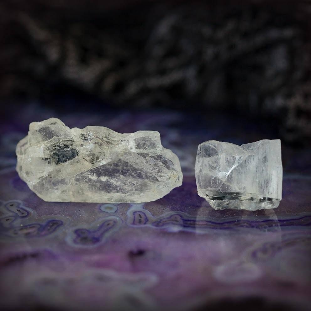 Petalite with Black Tourmaline