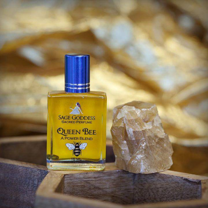 Queen Bee perfume & Natural Honey Calcite