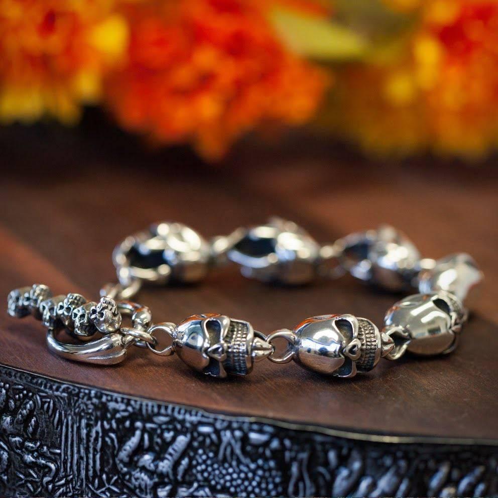Steel Skull Bracelets